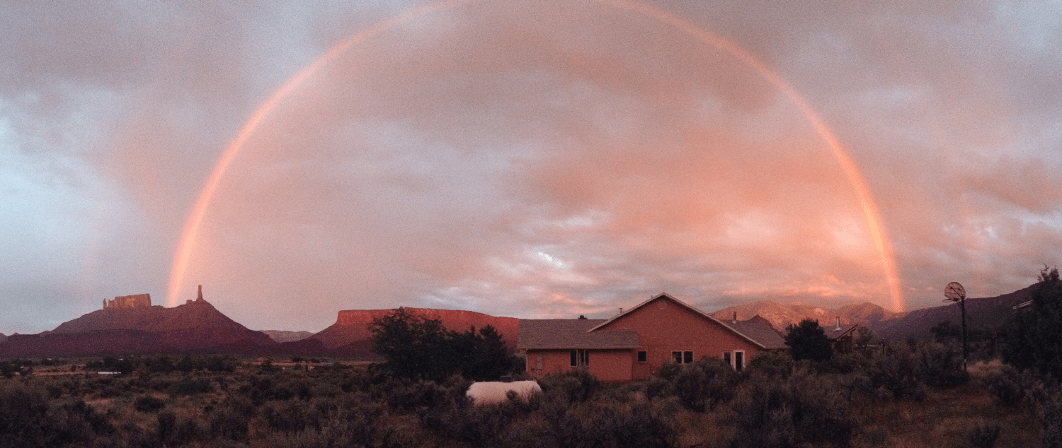 Rainbow over Sunhouse