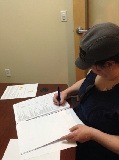 signing documents